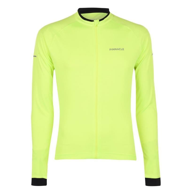 Pinnacle Long Sleeve Cycling Jersey Mens Yellow