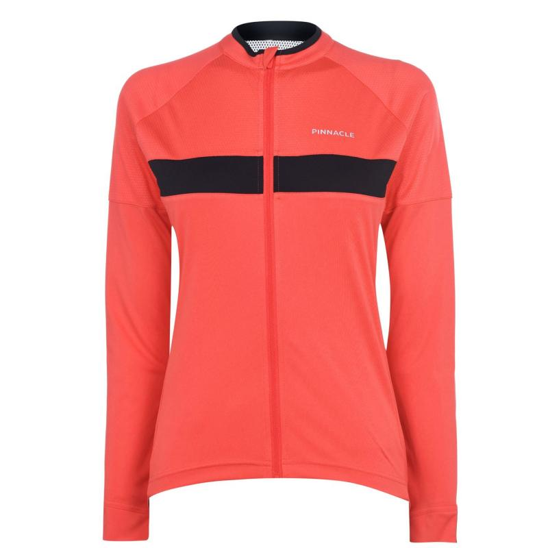 Pinnacle Race Long Sleeve Cycling Jersey Ladies Coral