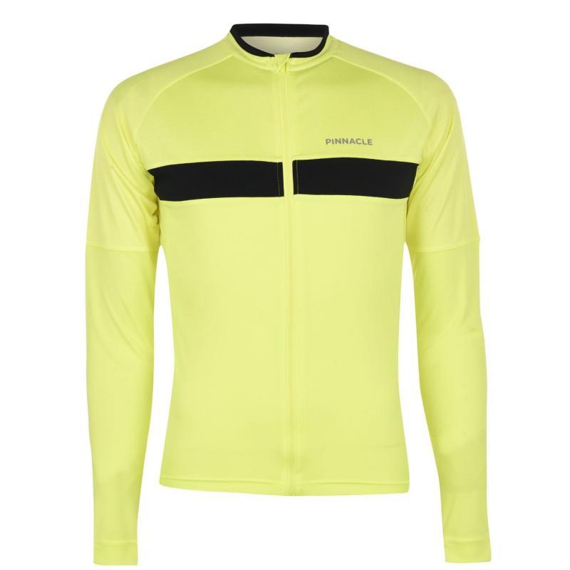 Pinnacle Race Long Sleeve Cycling Jersey Mens Yellow