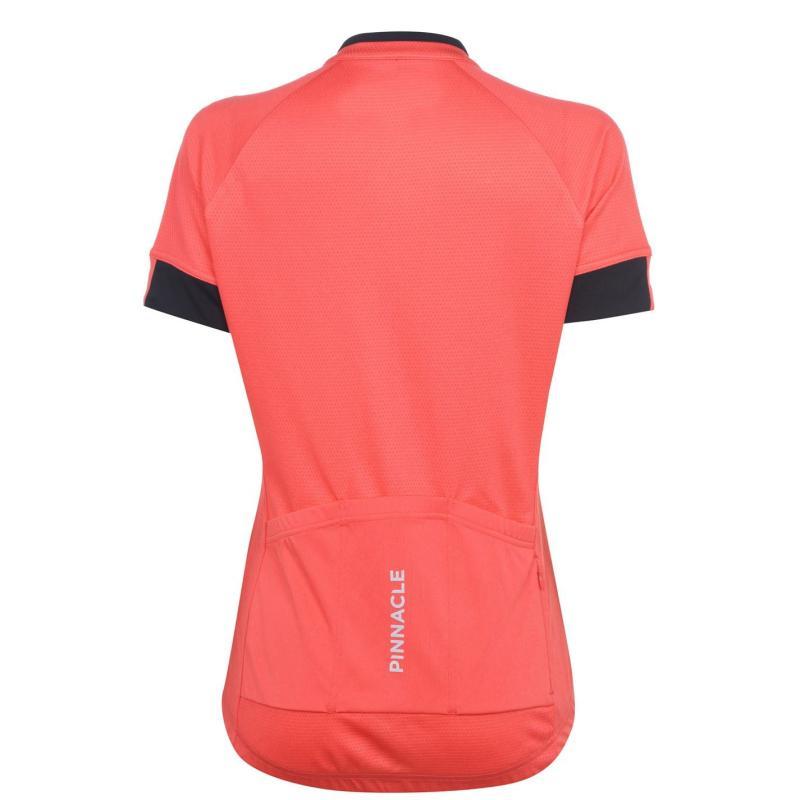Pinnacle Race Short Sleeve Cycling Jersey Ladies Coral
