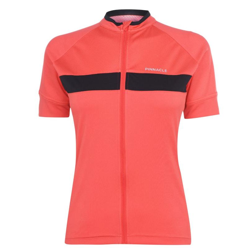 Pinnacle Race Short Sleeve Cycling Jersey Ladies Coral