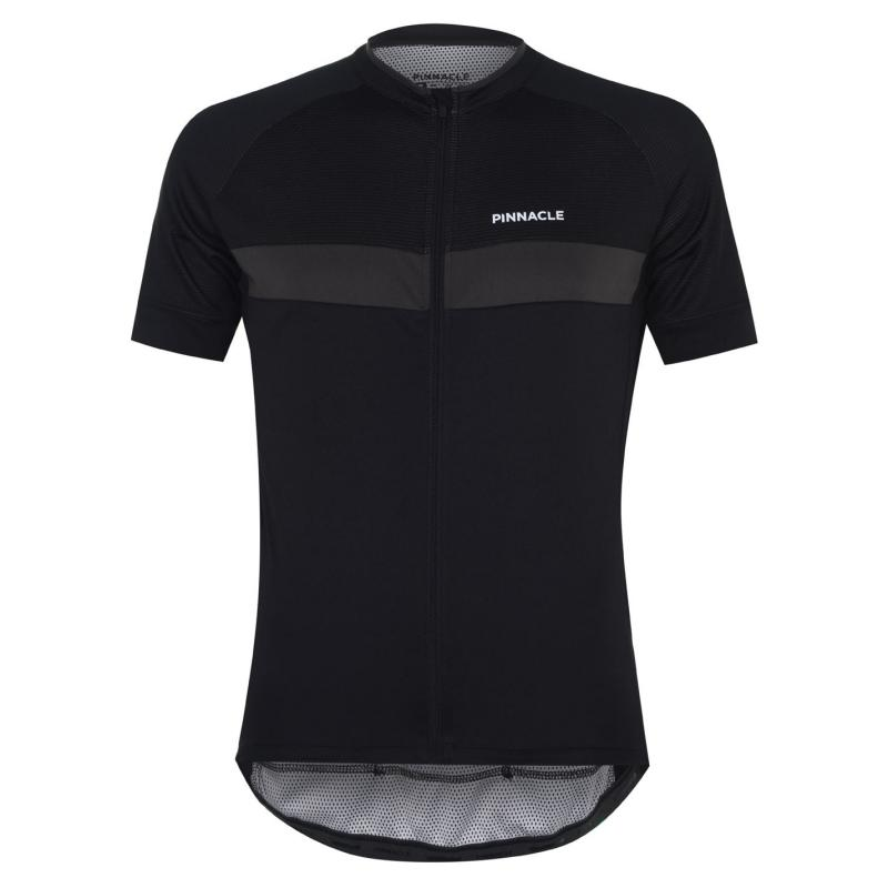Pinnacle Race Short Sleeve Cycling Jersey Mens Black/White