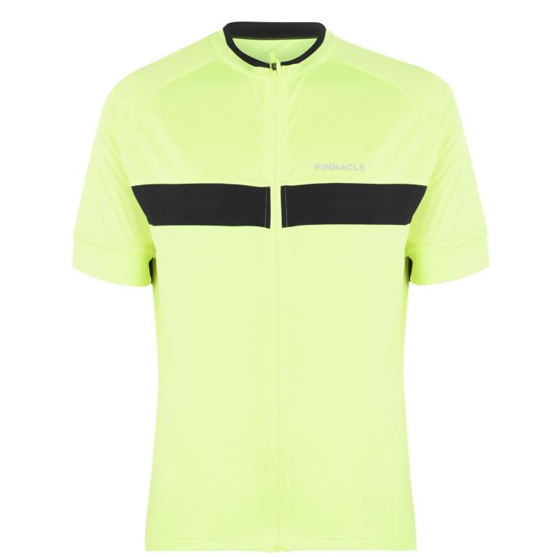 Pinnacle Race Short Sleeve Cycling Jersey Mens Yellow