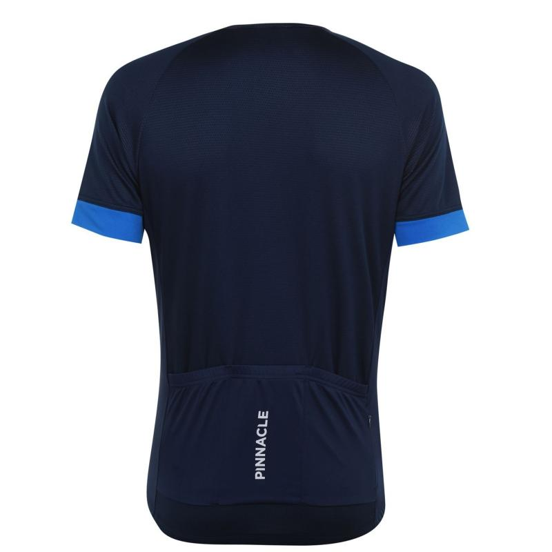 Pinnacle Race Short Sleeve Cycling Jersey Mens Navy