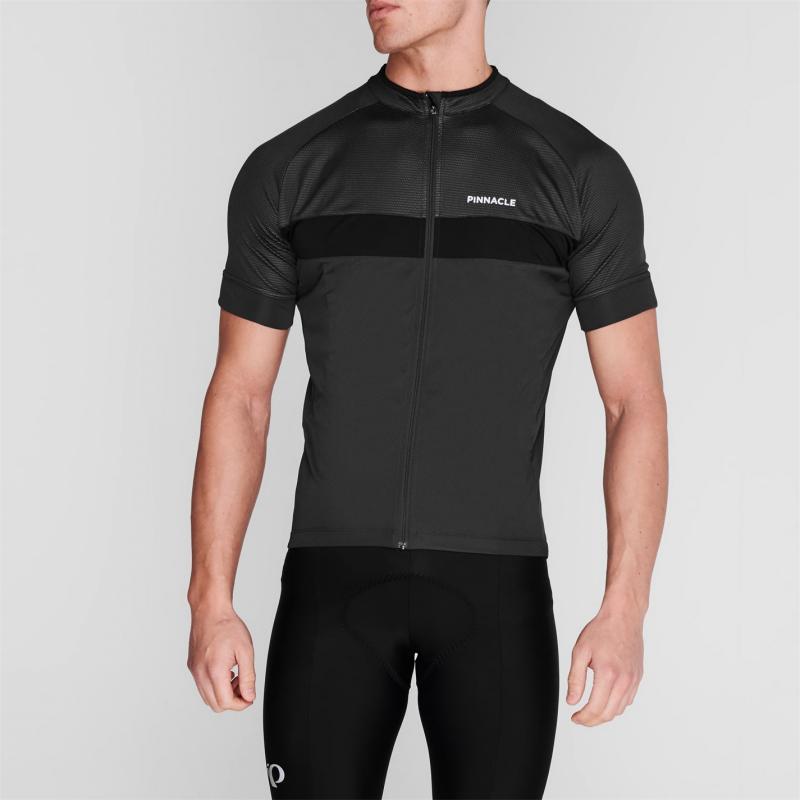 Pinnacle Race Short Sleeve Cycling Jersey Mens Charcoal