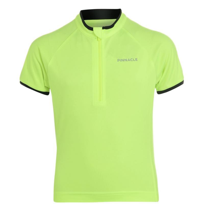 Pinnacle Short Sleeve Cycling Jersey Junior Yellow