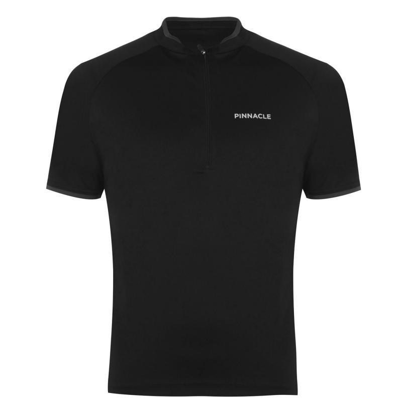 Pinnacle Short Sleeve Cycling Jersey Mens Black