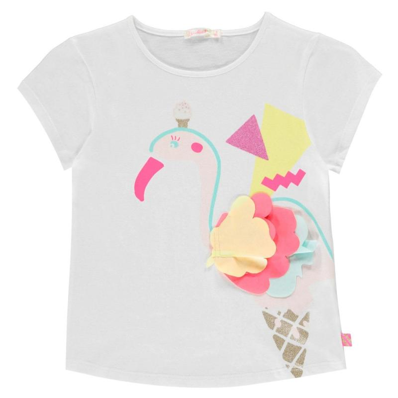 Billieblush Flamingo T Shirt Blanc 10B