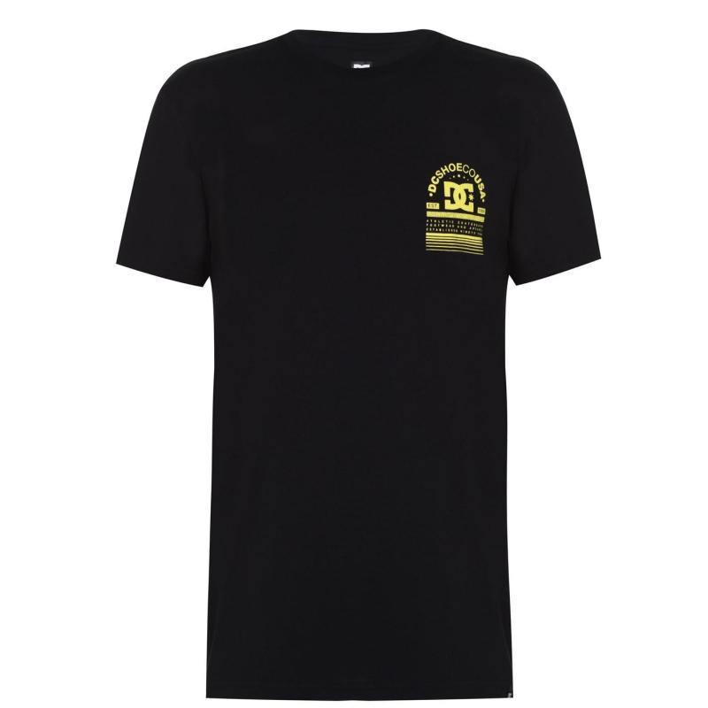 Tričko DC Arch Logo T-Shirt Black/Yellow