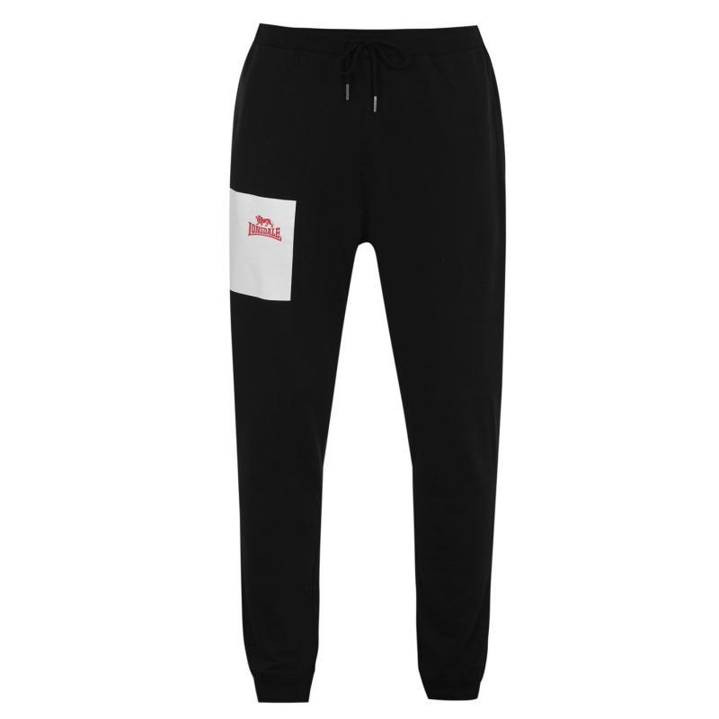 Tepláky Lonsdale Japan Fleece Jogging Pants Mens Black