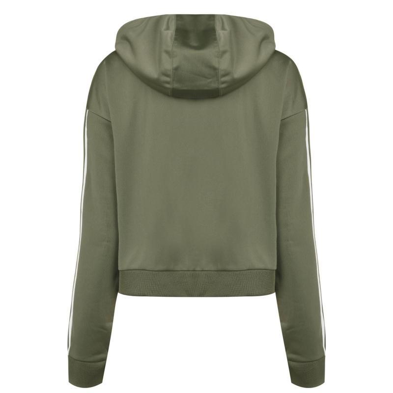 Mikina adidas C90 Crop Hoodie Womens Legacy Green