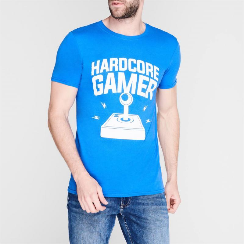 Tričko Character Slogan T Shirt Hardcore