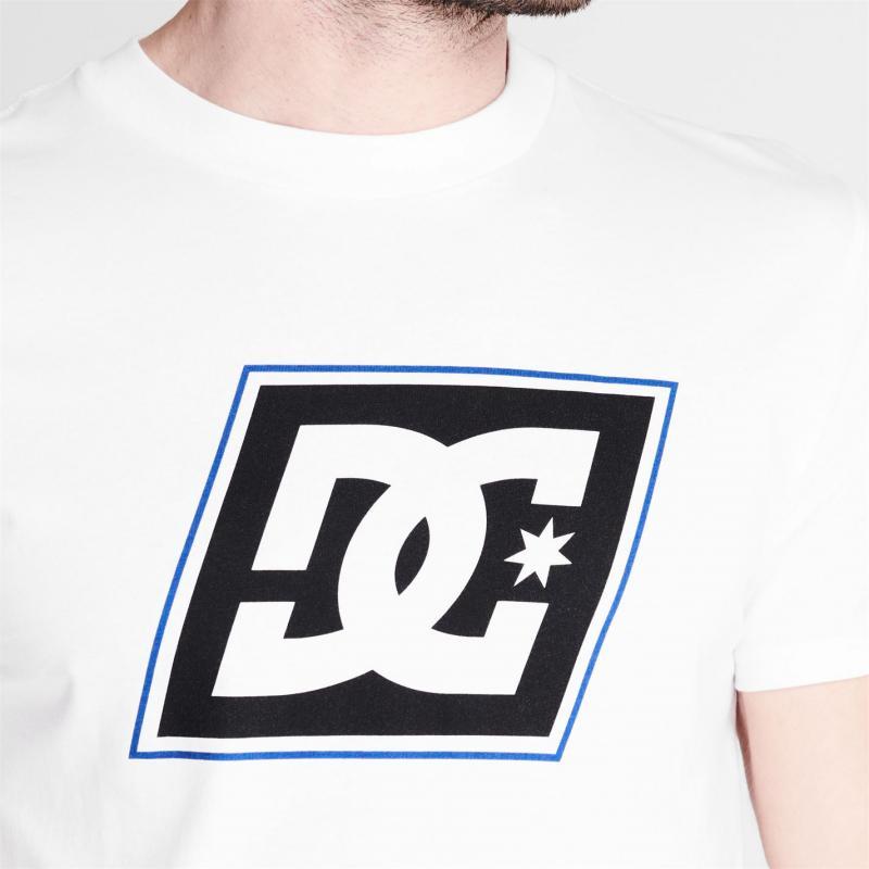 Tričko DC Slant Logo T Shirt White
