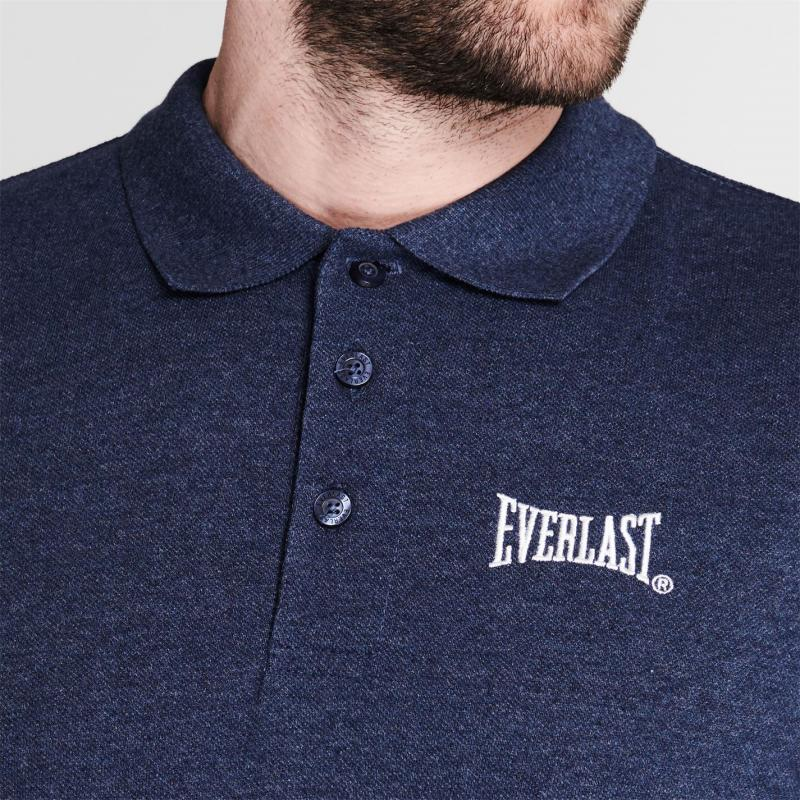 Everlast Pique Polo Shirt Mens Denim Marl