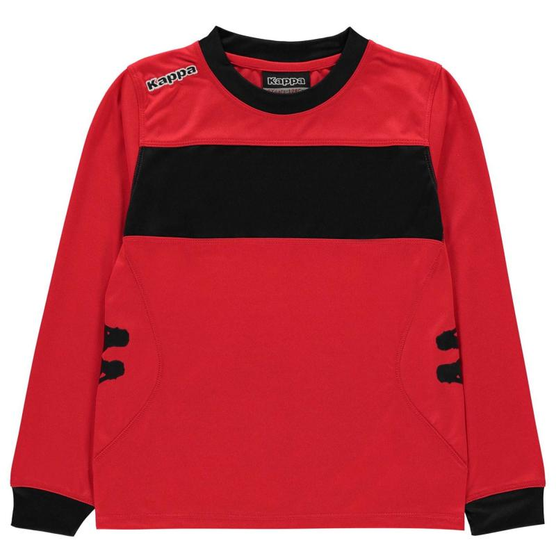Tričko Kappa Remilio Long Sleeved T Shirt Crimson Red Bla