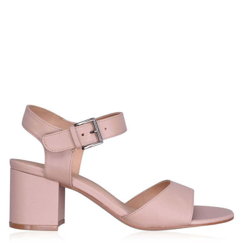 Obuv Linea Block Heel Sandals Nude Leather