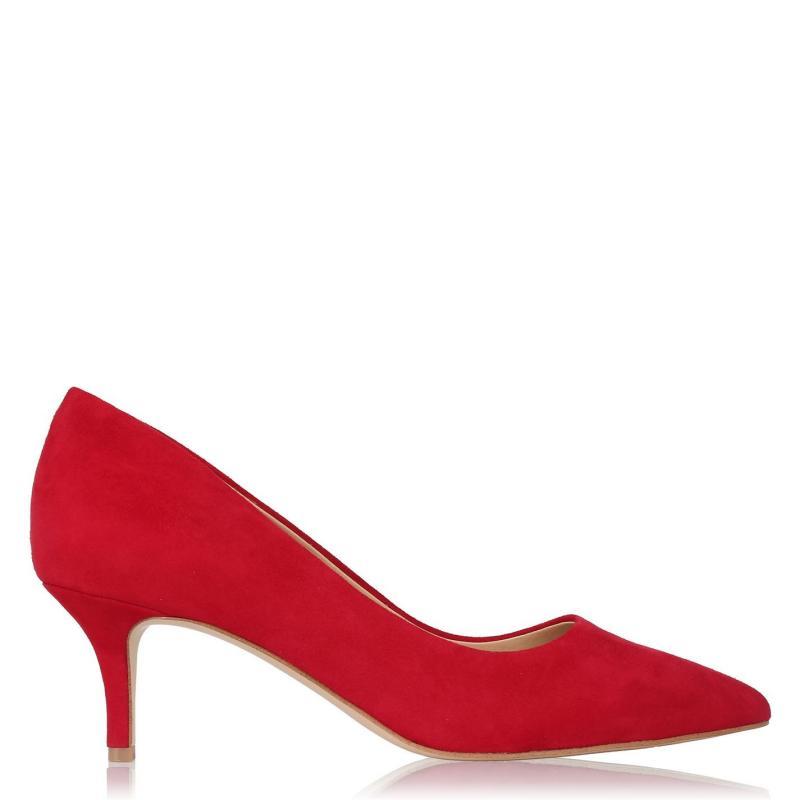 Obuv Linea Kitten Heel Shoes Red Suede