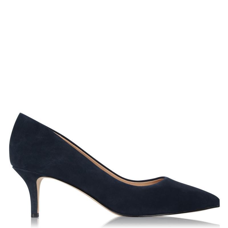 Obuv Linea Kitten Heel Shoes Navy Suede