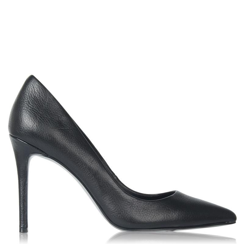 Obuv Linea Stiletto High Heel Shoes Black Leather