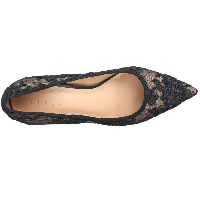 Obuv Linea Stiletto High Heel Shoes Black/Nude Lace