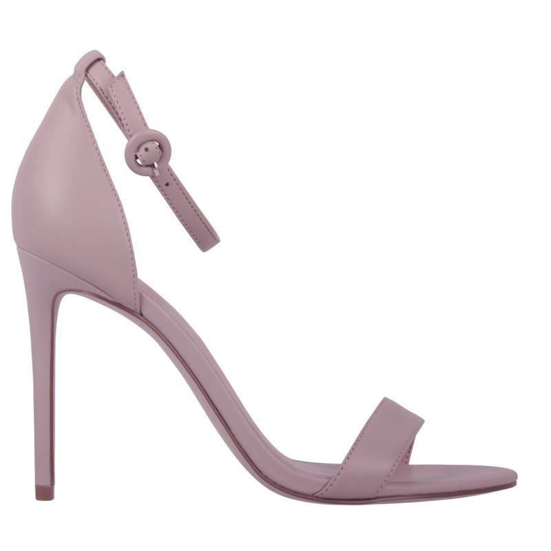 Obuv Linea Strap High Heeled Sandals Nude Leather