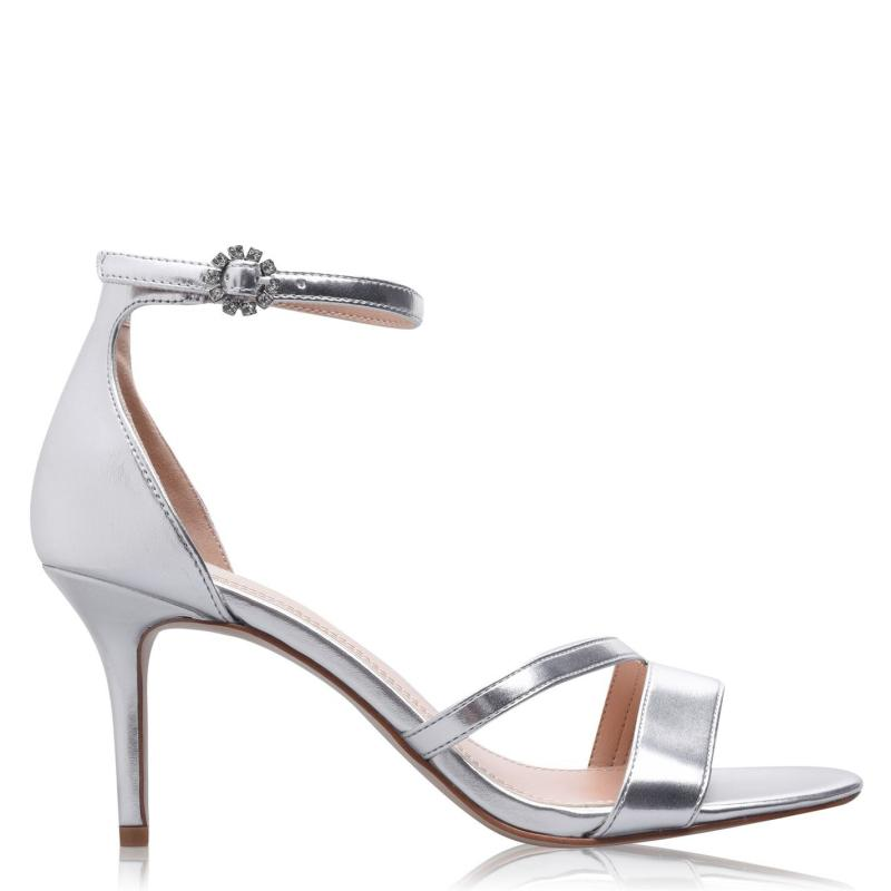 Obuv Linea Strap Mid Jewel Sandals Silver Metallic