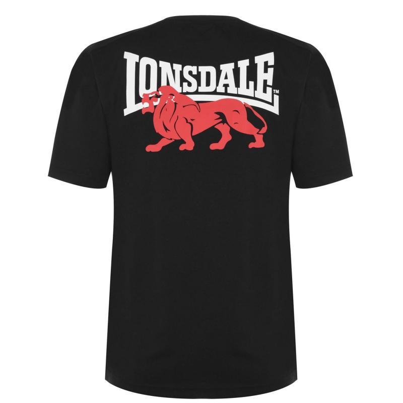 Tričko Lonsdale Japan T Shirt Mens Black Bk Lion