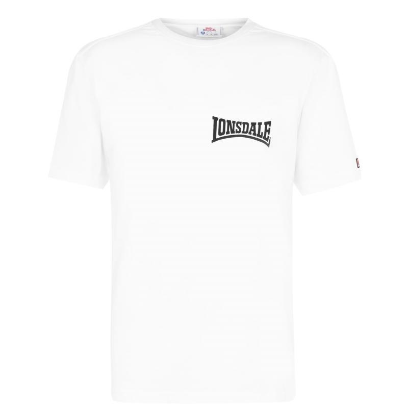 Tričko Lonsdale Japan T Shirt Mens White Bk Lion