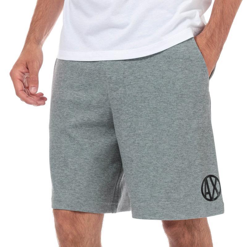 Armani Exchange Mens Circle Logo Colourblock Sweatshort Grey