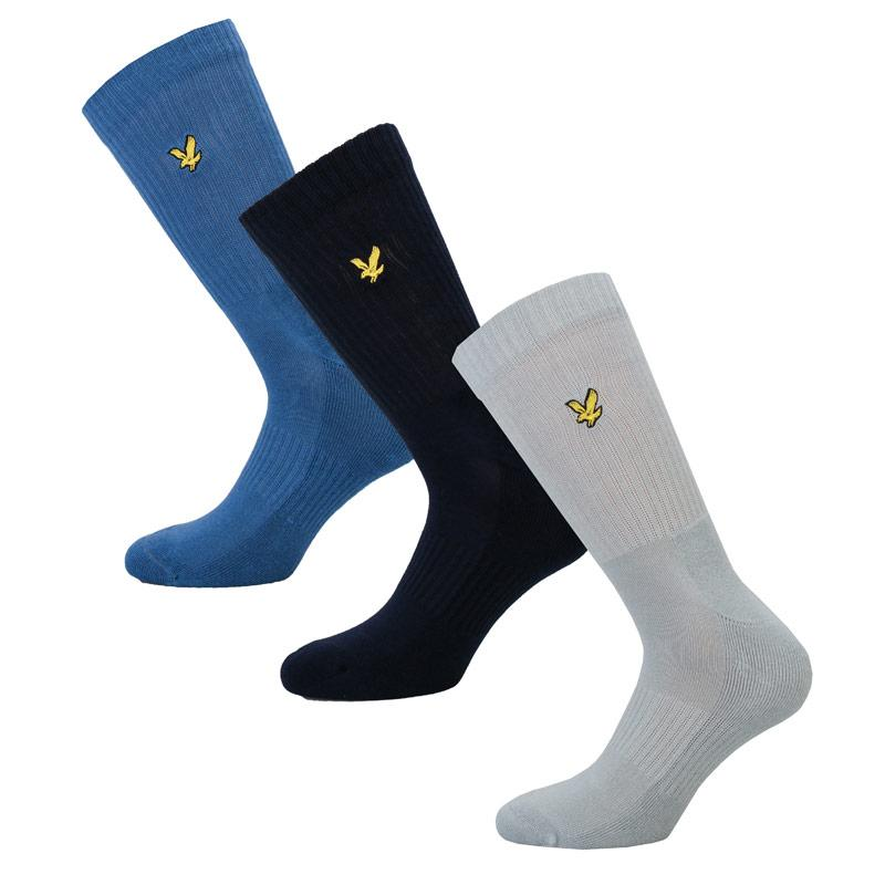 Ponožky Lyle And Scott Mens Hamiton 3 Pack Socks Blue