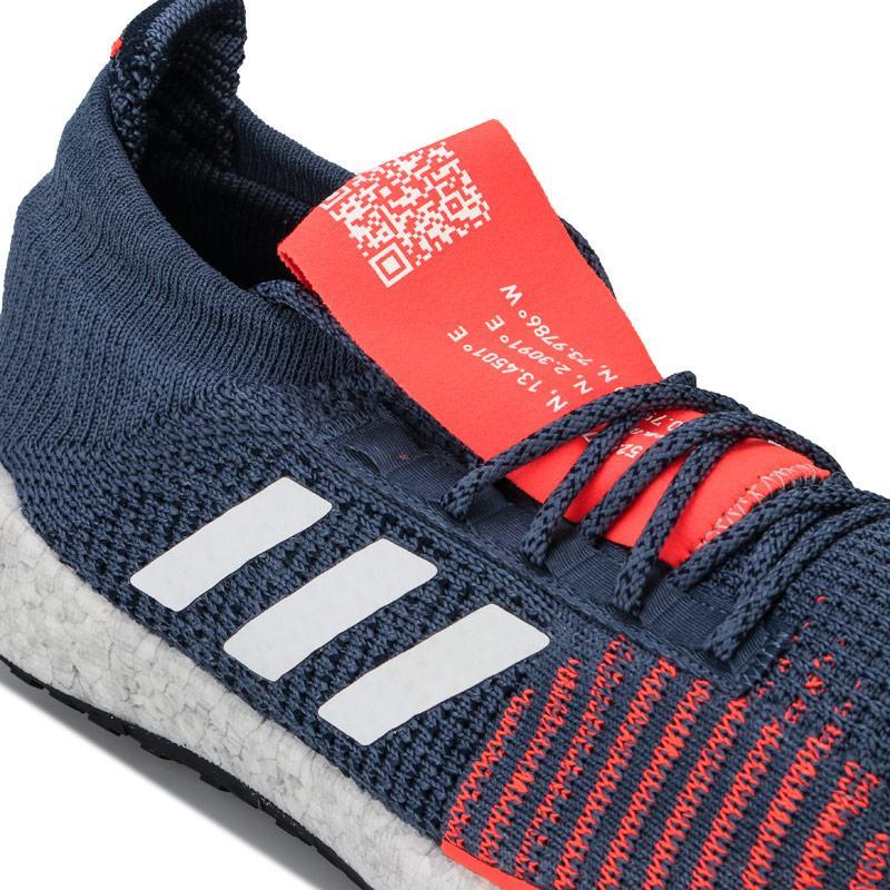 Adidas Mens PulseBOOST HD Running Shoes Blue