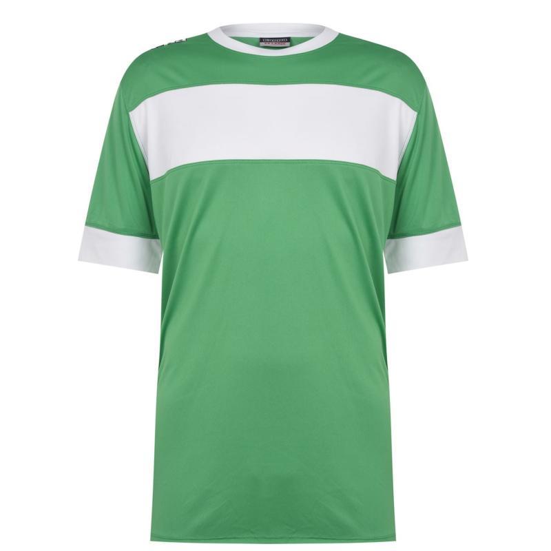 Tričko Kappa Remilio T Shirt Mens Green / White