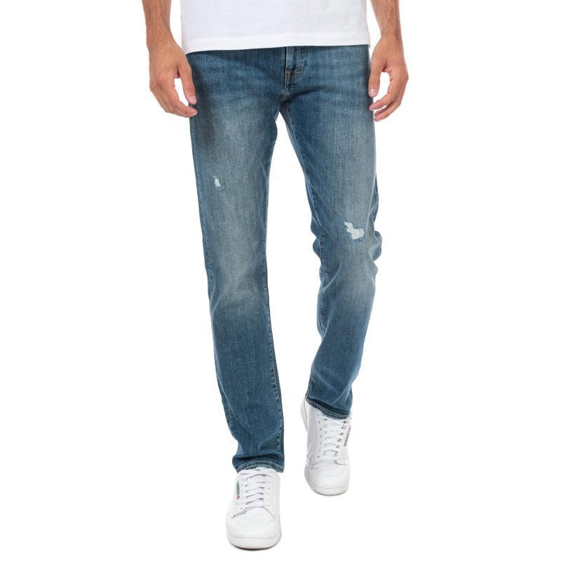 Armani Exchange Mens J13 Slim Fit Jeans Blue
