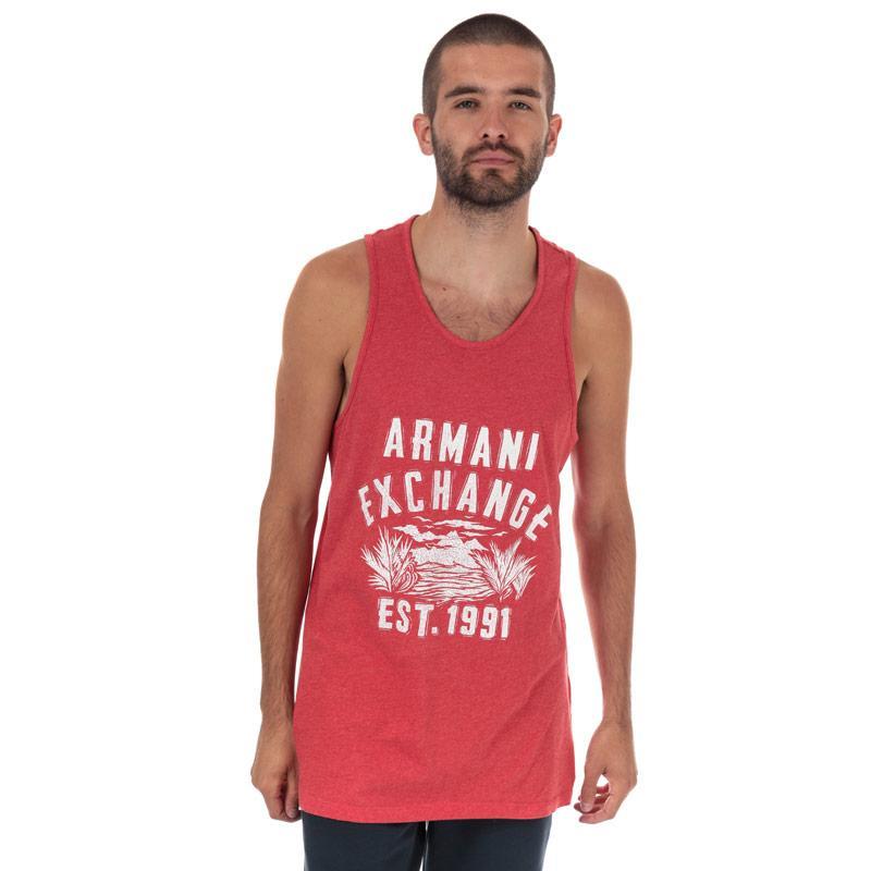 Tílko Armani Exchange Mens Large Logo Vest Red