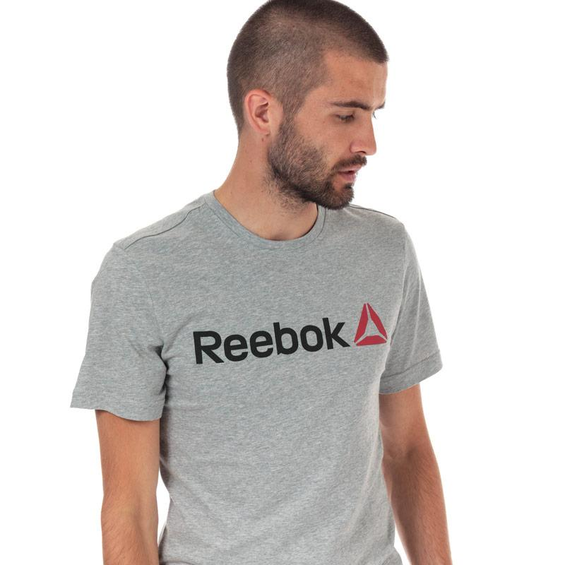 Tričko Reebok Mens QQR Linear Read T-Shirt Grey