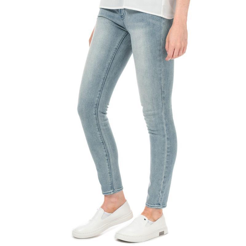 Armani Exchange Womens J01 Super Skinny Jeans Light Blue