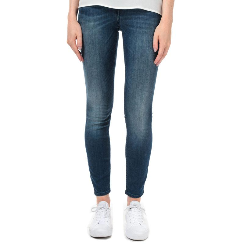 Armani Exchange Womens J01 Super Skinny Jeans Denim