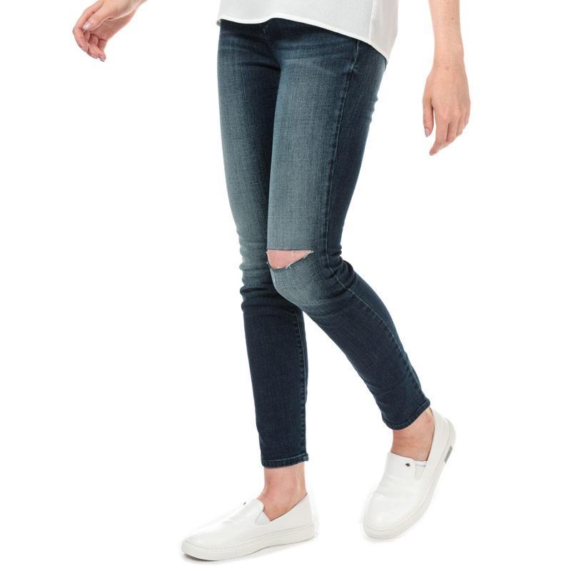 Armani Exchange Womens J24 High Waist Super Skinny Jeans Denim