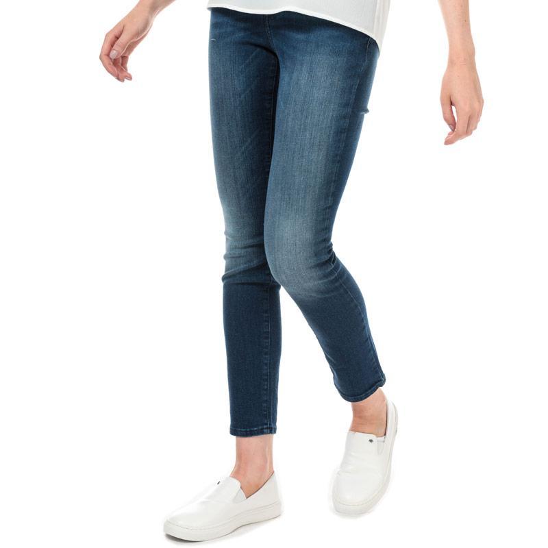 Armani Exchange Womens J45 Cigarette Fit Jeans Navy