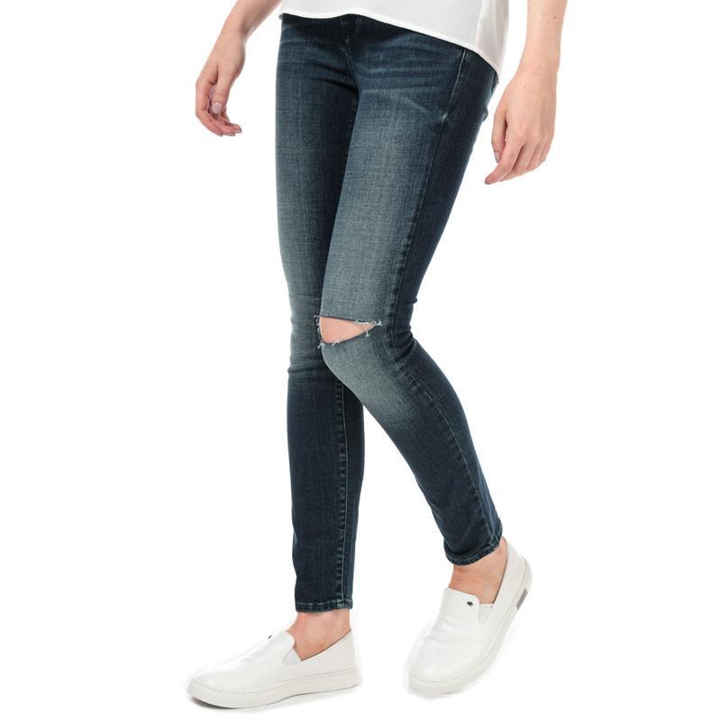 Armani Exchange Womens J69 Super Skinny Lift-Up Jeans Denim
