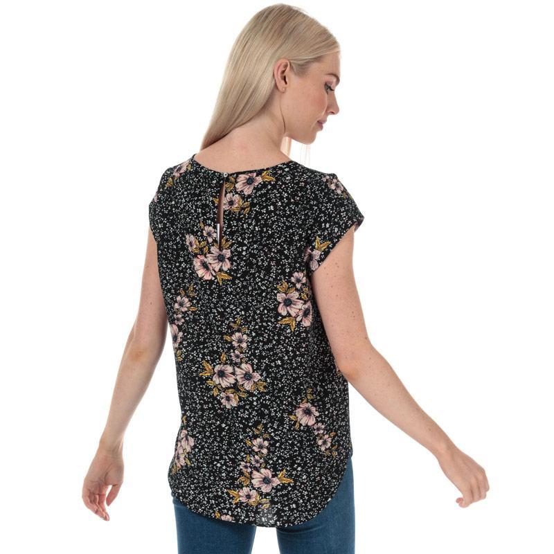 Only Womens Nova Lux Short Sleeve Top Black