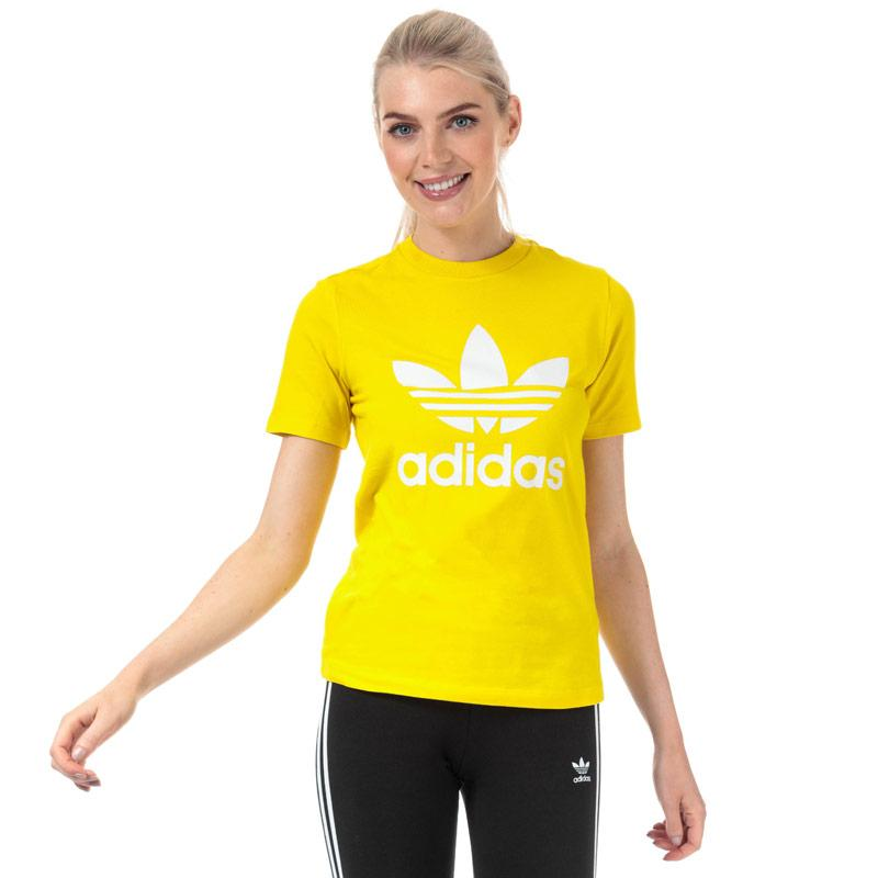Adidas Originals Womens Trefoil T-Shirt Yellow
