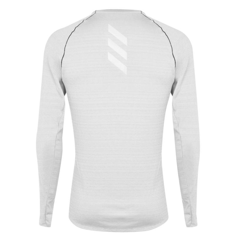 Adidas adidas Mens Adi Runner Long Sleeve T-Shirt Metal Grey