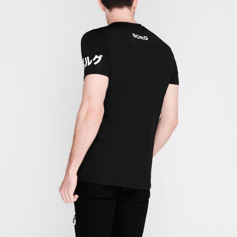 Tričko Bjorn Borg Japan T Shirt Black 90651