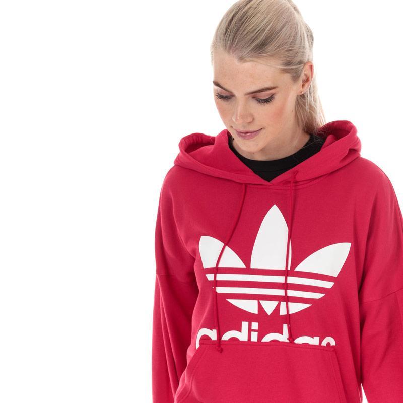 Mikina s kapucí Adidas Originals Womens Hoody Pink
