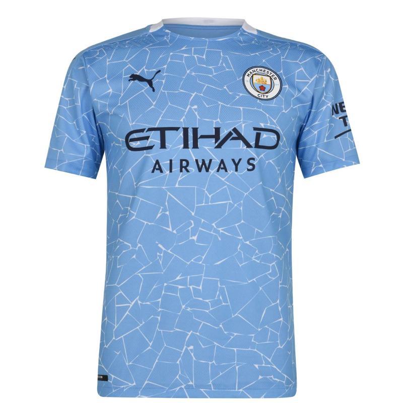 Puma Manchester City Authentic Home Shirt 2020 2021 Blue