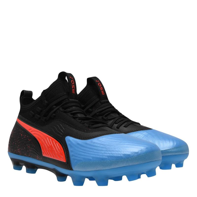 Puma One 19.1 Firm Ground Football Boots Mens Black/Blue