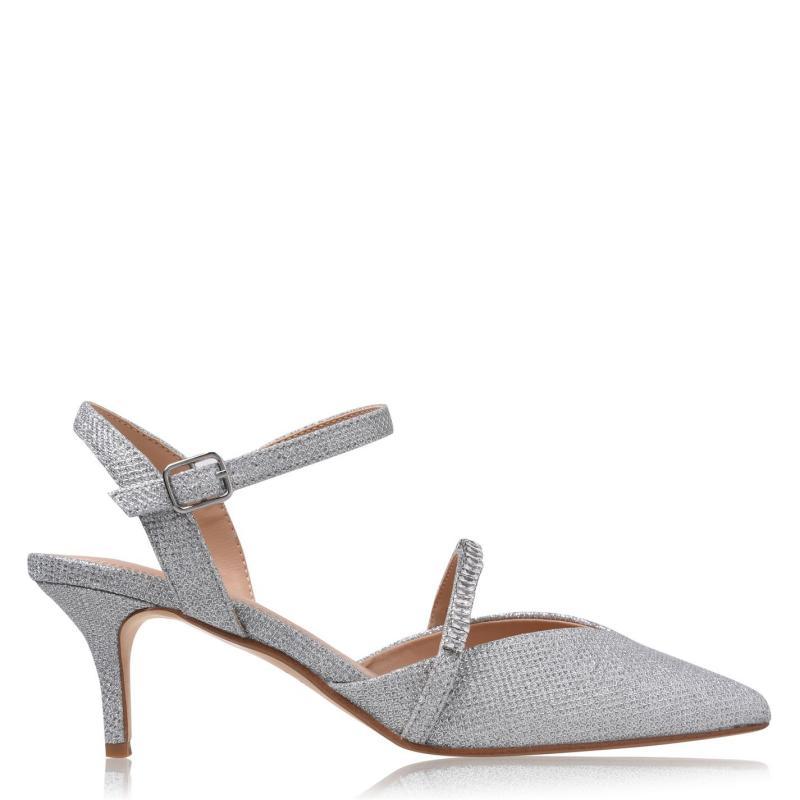 Obuv Linea D Kitten Heels Silver