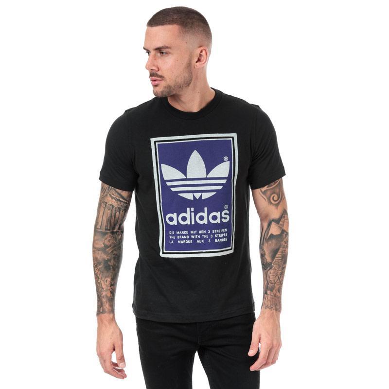 Tričko Adidas Originals Mens Filled Label T-Shirt Black