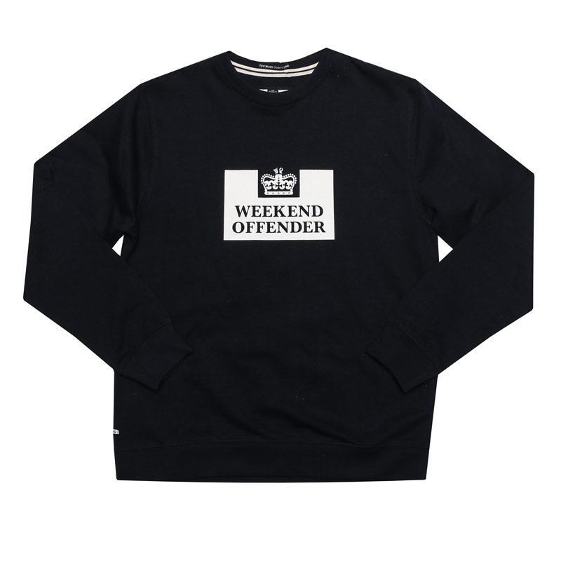 Weekend Offender Infant Boys Penitentiary Crew Sweatshirt Navy